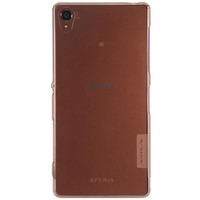 Силиконовый чехол Nillkin Nature TPU Case Brown для Sony Xperia Z3 D6603
