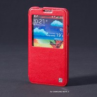 Кожаный чехол HOCO Crystal leather Case Red для Samsung N9000 Galaxy Note 3