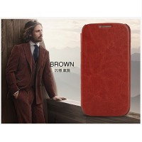 Кожаный чехол KLD Leather Case Brown для Samsung i9500 Galaxy S4