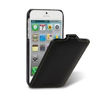 Кожаный чехол книга Melkco Leather Case Black LC для Apple iPhone 5/5S/5SE