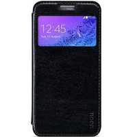 Кожаный чехол HOCO Crystal leather Case Black для Samsung G750F Galaxy Mega 2