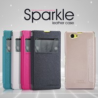 Полиуретановый чехол Nillkin Sparkle Leather Case Black для Sony Xperia Z1 mini/Compact