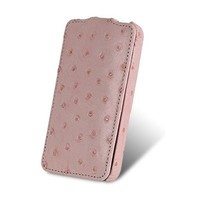 Чехол Melkco Leather Case Ostrich Pattern Pink для Samsung i9100 Galaxy S2