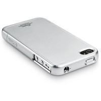 Пластиковый чехол SGP Linear Color Series Silver для Apple iPhone 4/4S