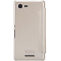Полиуретановый чехол Nillkin Sparkle Leather Case Golden  для Sony Xperia E3 Dual