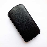 Кожаный чехол Armor Case Black для Alcatel One Touch POP C2 4032X