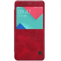 Кожаный чехол Nillkin Qin Leather Case Red для Samsung A710F Galaxy A7 (2016)