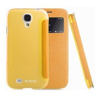 Кожаный чехол Yoobao Slim Leather Case II Yellow для Samsung i9500 Galaxy S4