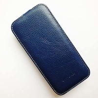Кожаный чехол Melkco Leather Case Dark Blue LC для HTC One M8 mini 2