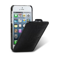 Кожаный чехол Melkco Leather Case Crocodile Black LC для Apple iPhone 5/5S/5SE