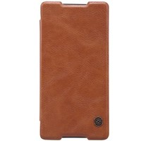 Кожаный чехол Nillkin Qin Leather Case Brown для Sony Xperia Z4