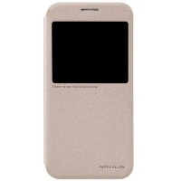Полиуретановый чехол Nillkin Sparkle Leather Case Gold для Samsung G920F Galaxy S6