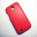 Кожаный чехол Armor Case Red для Lenovo IdeaPhone S750(#4)