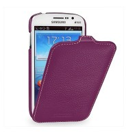 Кожаный чехол-книга Melkco Leather Case Purple LC для Samsung i9060 Galaxy Grand Neo