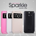 Полиуретановый чехол Nillkin Sparkle Leather Case Gold для HTC One E8 Ace(#3)