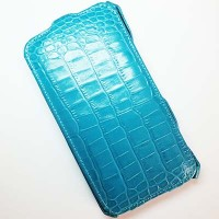 Кожаный чехол Abilita Leather Case Blue Crocodile для Nokia Lumia 1320