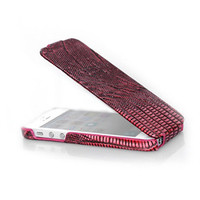 Кожаный чехол Borofone Lizard flip Leather Case Red для Apple iPhone 5/5S/5SE