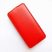 Кожаный чехол Armor Case Red для Alcatel One Touch Idol Mini 2 6016X