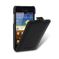 Кожаный чехол книга Melkco Leather Case Black LC для Samsung i9070 Galaxy S Advance
