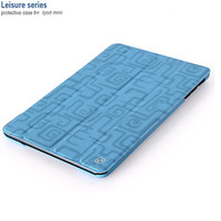 Кожаный чехол HOCO Leisure Series Blue для Apple iPad mini