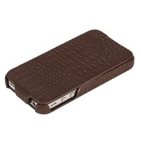 Кожаный чехол Borofone Crocodile flip Brown для Apple iPhone 4/4S
