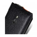 Кожаный чехол книга Melkco Leather Case Black/Orange LC для Nokia Lumia 800(#4)