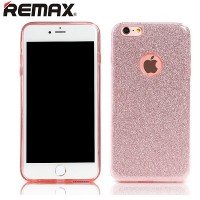 Силиконовый чехол Remax Glitter Series Pink для Apple iPhone 6/6S