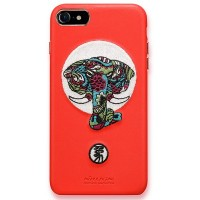 Кожаная накладка Nillkin Brocade Series Red Elephant для Apple iPhone 7