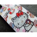 Пластиковый чехол Hello Kitty Black Crystal для Apple iPhone 5/5S/5SE(#3)