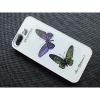 Пластиковый чехол Butterfly White Crystal для Apple iPhone 5/5S/5SE