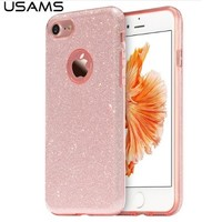 Силиконовый чехол Usams Bling Series Pink для Apple iPhone 7/iPhone 8