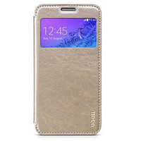 Кожаный чехол HOCO Crystal leather Case Golden для Samsung G850 Galaxy Alpha