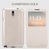 Полиуретановый чехол Nillkin Sparkle Leather Case Gold для Samsung N7505 Galaxy Note 3 Neo Dual