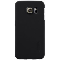 Пластиковый чехол с пленкой Nillkin Super Frosted Shield Black для Samsung G925F Galaxy S6 Edge