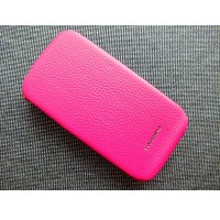 Кожаный чехол Nuoku Royal Series Pink для HTC Desire S