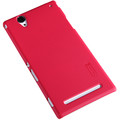 Пластиковый чехол Nillkin Super Frosted Shield Red для Sony Xperia T2 Ultra Dual(#3)