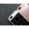 Пластиковый чехол Broken line White/Black для Apple iPhone 5/5S/5SE(#4)