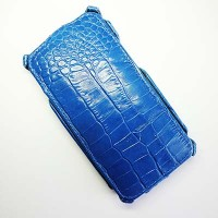 Кожаный чехол Abilita Leather Case Blue Crocodile для HTC One Dual Sim