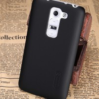 Пластиковый чехол Nillkin Sparkle Leather Case Black для LG Optimus G2 Mini D618