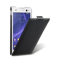 Кожаный чехол Melkco Leather Case Black LC для Sony Xperia C3 S55t