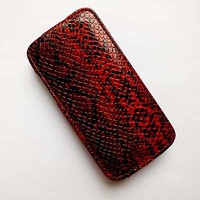 Кожаный чехол Rada Brauffen Case Red Snake для Samsung i9190 Galaxy S4 mini