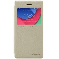 Полиуретановый чехол Nillkin Sparkle Leather Case Gold для Lenovo Vibe Shot Z90