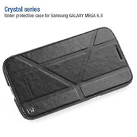 Кожаный чехол HOCO Crystal leather Case Black для Samsung i9200 Galaxy Mega 6.3