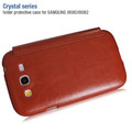 Кожаный чехол HOCO Crystal leather Case Brown для Samsung i9060 Galaxy Grand Neo(#2)