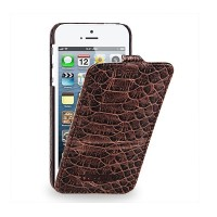 Кожаный чехол TETDED Troyes Duo Brown Snake LC для Apple iPhone 5/5S/5SE