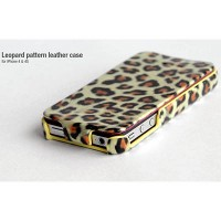 Кожаный чехол HOCO Leopard Leather Case Brown для Apple iPhone 4/4S