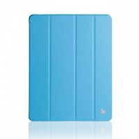 Кожаный чехол Jisoncase Executive Smart Cover Blue для Apple iPad 4/3/2