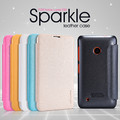 Полиуретановый чехол Nillkin Sparkle Leather Case White для Nokia Lumia 530(#4)
