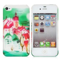 Пластиковый чехол Baseus Utopia Case Tranquil Village для Apple iPhone 4/4S