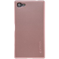 Пластиковый чехол с пленкой Nillkin Super Frosted Shield Rose Gold для Sony Xperia Z5 Compact